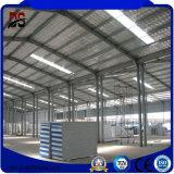 Taller ligero prefabricado del acero de la estructura del panel de emparedado del edificio del metal