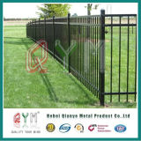 Painéis pretos de aço da cerca dos painéis da cerca do ferro feito para a venda