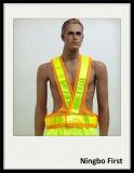Veste da segurança de tráfego com a fita de cristal de Reflecrive