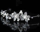 Cristal romântico Pearl Flower Hairpin Tiara Suite Crown barbeiro