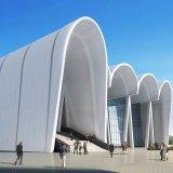 Painel de alumínio alveolado de arquitetura para decoração de revestimento