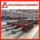 Cilindro hidráulico médio personalizado de energia hidráulica da pressão com aço de carbono