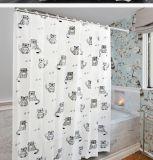새로운 디자인 판지 고양이 PEVA는 목욕탕을%s 샤워 커튼을 방수 처리한다