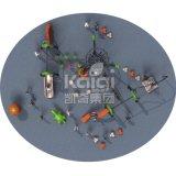 Kaiqi子供の遊園地(KQ60140A)のための上昇シリーズ屋外の運動場