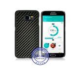 La fibre de carbone en matériau plastique cas Mobile PC pour Samsung Galaxy S6