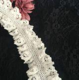 両側のある綿のスパンデックスの衣服のための化学刺繍のレース