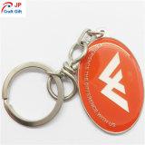 Trousseau de clés chaud personnalisé d'ellipse de vente avec le logo