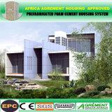 Almacenes prefabricados elegantes comprables de la casa del marco del metal