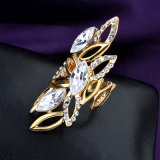 Bague annexe de mode de bijou de vente en gros d'imitation d'usine longue