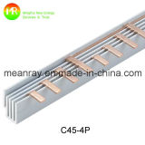 2p Barra de barras de cobre elétrico C45 Insulador de barras de barramento MCB