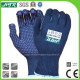 Vezel van het bamboe breide de Antibacteriële Geurbestrijdende Handschoenen van het Werk van de Veiligheid met de Punten van pvc