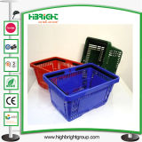 Colorful Double Handles Plastic Shopping Baskets (HBE-B-11)