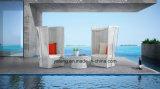 よいデザイン普及した5startホテルのプロジェクトの家具の屋外のプールの側面の高く背部ソファーの一定の恋人はセットした(YT571-3PCS/set)