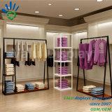 Metal + Prendas de Vestir de madera Mostrar Rack Estanterías de almacén de accesorios para tiendas minoristas