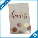 Étiquette de papier de Cloor d'ombre pour des accessoires de vêtement