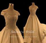 Выключите Aolanes плечо Satin свадебные платье