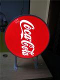 Sinal Thermoformed Sqaure/redondo plástico/Oval que anuncia a caixa leve do diodo emissor de luz do vácuo ao ar livre da polícia da coca-cola