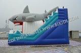Qualität mit Cheap Price Inflatable Water Slide für Kids, Inflatable Shark Slider B4105