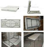 Fabrication de gros de table en plastique de pliage de plein air