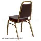 ホテルの家具のブラウンのビニールおよび型の泡が付いている台形背部スタッキングの宴会の椅子