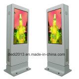 지면 대 LCD 디지털 Signage 65inch 옥외 접촉 간이 건축물을 주문을 받아서 만드십시오