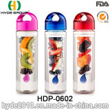 Симпатичная пластичная бутылка воды с подгонянным логосом, бутылка Infuser свежих фруктов воды BPA свободно пластичная (HDP-0602)
