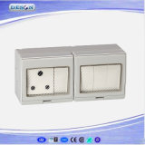IP55 4 Gang Switch e 1 Gang Sudafrica Socket Waterproof Wall Switch Socket