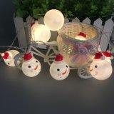 Luz nova com tampa do boneco de neve, luz da corda do diodo emissor de luz de Natal