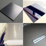 Miroir enduit noir 8K du Ti 201 et plaque balayée d'acier inoxydable