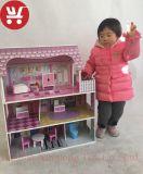 XL10199 artesanal bricolage 3D educacional muito popular casa de bonecas de madeira escura brinquedos