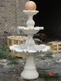 Fontana di pietra di marmo/del granito della scultura dell'acqua del giardino per la decorazione