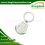 Figura rotonda su ordinazione Keychain in bianco in lega di zinco