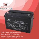 Bateria de AGM de baterias VRLA com ácido de chumbo regulado por válvula de 12 volts 100ah