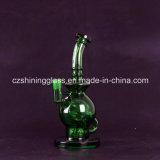 ホウケイ酸塩の緑色のガラス煙る配水管のすてきな卵よいデザイン