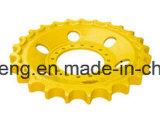 La rueda dentada, segmentos de la Topadora Excavadora de orugas para piezas de repuesto del tren de rodaje