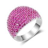Anillo de dedo cristalino de la CZ del nuevo del item del oro blanco color del color de rosa