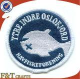 Garment (FTPT2305A)를 위한 간단한 Round Custom Design Logo Embroidery Patch