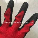 """10g """"мятым"""" эффектом с другой стороны с покрытием из латекса безопасности рабочие перчатки"""