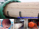Aquecimento cozinhando (pressionando ou adicionando o petróleo condutor) a autoclave de secagem de madeira