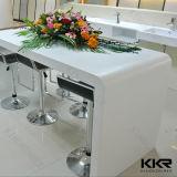Tabela de contador de barra de superfície sólida personalizada, tabela de bancada longa de pedra artificial