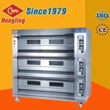 De commerciële Oven van het Gas van 3 van het Dek van het Baksel van de Oven Machines van de Bakkerij voor Verkoop