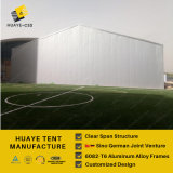 Entrepôt Semi-Permanent tente avec mur solide et porte coulissante