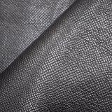 織り目加工の浮彫りになる総合的な人工的なPUののど袋の靴は革を模倣する