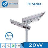 luz de rua pequena da noite do sensor 20W solar
