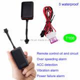 Cartão SIM GSM Rastreador GPS do veículo com alarme de vibração T108