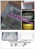 Cucina Sink, Sink, 304 Stainless Steel Sink, Handmade Sink, Double Bowl con Drainer Board 11548A