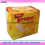 Essuie-main sanitaires de bonne absorption de Topsheet de coton du Ghana 300mm