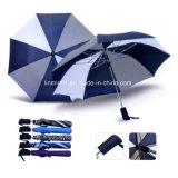 Творческий дизайн черный покрытие внутри печать 3 складной зонтик