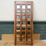 Schwarze Walnuss-festes Holz-Haupttür-Entwürfe mit Cer-Bescheinigungglas und Sidelight