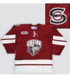 Мужской костюм для детей женщин настроить веранда Ohl Storm 2007-09 высшего качества Хоккей красный дешевые футболках Nikeid Goalit Custom любое имя № футболках NIKEID